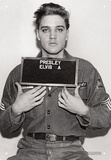 Elvis - Enlistment Photo Tin Sign