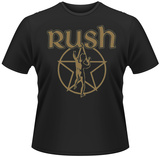 Rush- Vintage Starman (Green Emblem) T-Shirts