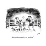 """I misunderstood the term pugilism!"" - New Yorker Cartoon Premium Giclee Print by Tom Toro"