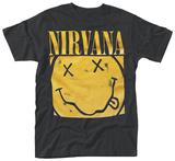 Nirvana- Boxed Smiley T-Shirts