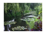 Giverny Pond Premium Giclee Print by Sarah Butcher