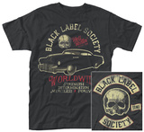 Black Label Society- Hell Riding Distressed (Front/Back) T-Shirts