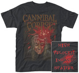 Cannibal Corpse- High Velocity Impact (Front/Back) T-Shirts