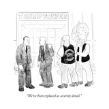 """""""We've been replaced as security detail."""" - Cartoon Regular Giclee Print by Emily Flake"""