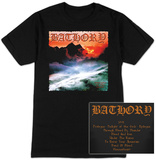 Long Sleeve: Bathory- Twilight Of The Gods Album Tracks (Front/Back) T-shirt a maniche lunghe