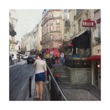 Streets of Paris Premium Giclee Print by Sarah Butcher