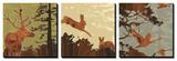 Bird, Bunny, Deer II Art by  jefdesigns