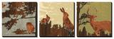 Bird, Bunny, Deer I Prints by  jefdesigns