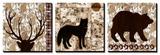 Wilderness Animals Print by Nicholas Biscardi