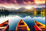 Mountain Lake In National Park High Tatra Print by Leonid Tit