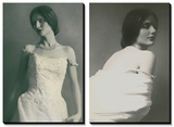 Newest Necklace and Classic Portraits in White Prints by Malgorzata Maj