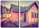 Sun and Old Mormon House, Mormon Row, Wyoming Prints by Vincent James