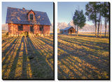 Old Mormon House and Long Shadows, Wyoming Prints by Vincent James