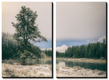 Frosty River Bend, Yellowstone Poster by Vincent James