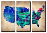 USA Watercolor Map 3 Prints by  NaxArt