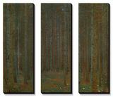 Abetos - floresta de pinheiros  Posteres por Gustav Klimt