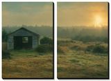 Morning Shack at Mendocino Posters by Vincent James