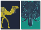 Camel and Elephant Poster