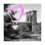 Luv Collection - New York City - Brooklyn Bridge II Giclee Print by Philippe Hugonnard