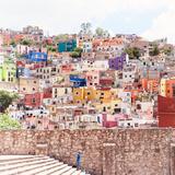 ¡Viva Mexico! Square Collection - Guanajuato Colorful City II Photographic Print by Philippe Hugonnard