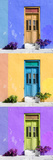 ¡Viva Mexico! Panoramic Collection - Tree Colorful Doors XI Photographic Print by Philippe Hugonnard