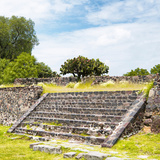 ¡Viva Mexico! Square Collection - Staircase Pyramid Photographic Print by Philippe Hugonnard