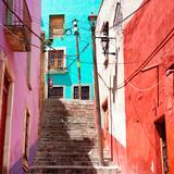 ¡Viva Mexico! Square Collection - Street Scene - Guanajuato VII Photographic Print by Philippe Hugonnard