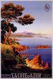 Azurkysten Plakat af M. Tangry