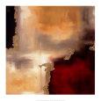Crimson Accent I Kunsttryk af Laurie Maitland