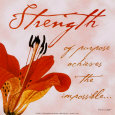 Strength Art Print by Paula Scaletta