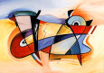 Abstrakt kunst (Gockel) Posters