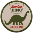 Anuncio de gasolina Sinclair Dino Cartel de chapa