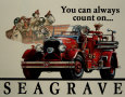 Seabrave Fire Engine Plaque en métal