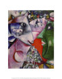 Moi et le Village (1911) Reproduction d'art par Marc Chagall