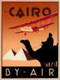 Cairo by Air Kunsttryk af Brian James