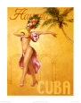 La Havane - Cuba Reproduction d'art par David Marrocco