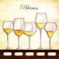 Les Vins Blancs Reproduction d'art par Andrea Laliberte