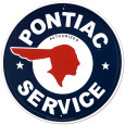 Pontiac Service Pltskylt