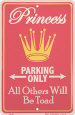 Parking Tin Signs Posters