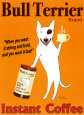 Café Bull Terrier Reproduction d'art par Ken Bailey