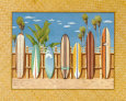 Planches de surf Reproduction d'art par Evelyn Jenkins-Drew