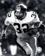 Franco Harris - Rushing With Ball (B&W) Photo
