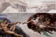 Creación de Adán Póster por Michelangelo Buonarroti