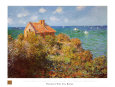 Fisherman's Cottage on the Cliffs at Varengeville Art Print by Claude Monet