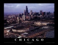 Chicago: Soldier Field, Chicago Bears Poster Print von Mike Smith