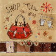 Shop Till You Drop Art Print by Katherine & Elizabeth Pope