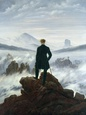 The Wanderer Above the Sea of Fog, 1818 Gicleetryck av Caspar David Friedrich