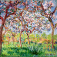 Printemps a Giverny, 1903 reproduction procédé giclée par Claude Monet