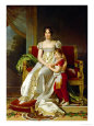 Hortense De Beauharnais (1783-1837) Queen of Holland and Her Son, Napoleon Charles Bonaparte reproduction procd gicle par Francois Gerard