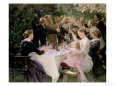 Hip Hip Hurrah! Artists' Party at Skagen, 1888 Gicle-Druck von Peder Severin Kryer